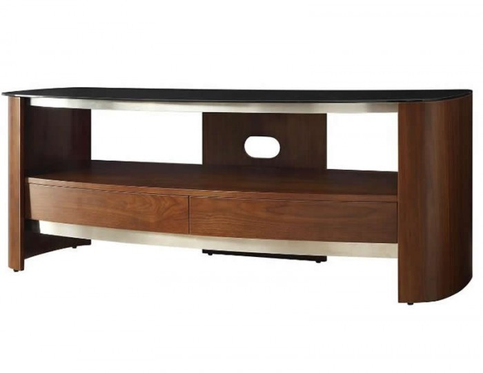 Melbourne Walnut and Glass Top Tv Stand