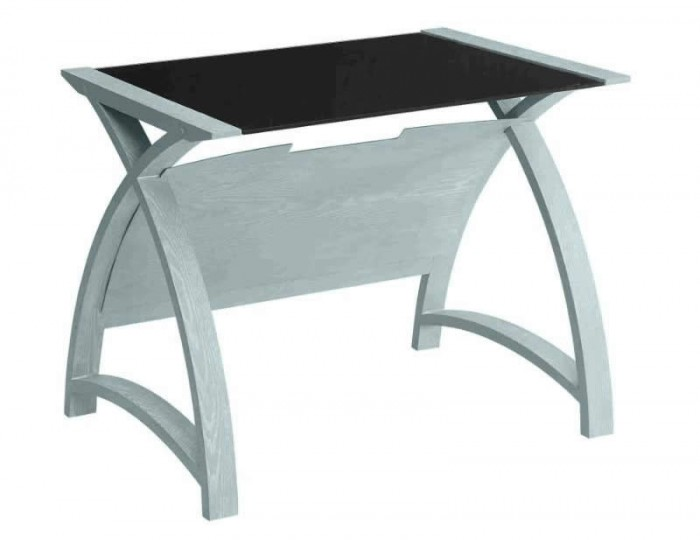 Penzance Small Grey and Glass Work Table
