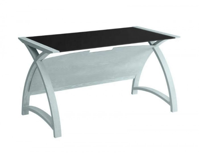 Penzance Large Grey and Glass Work Table