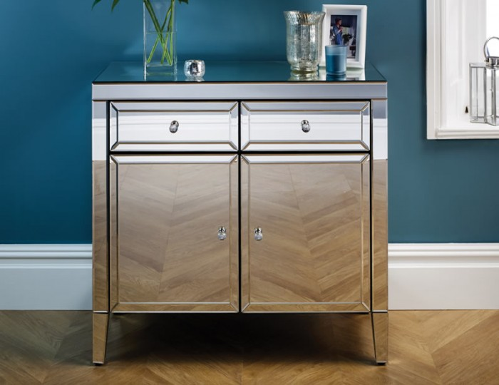Valencia Mirrored 2 Door 2 Drawer Sideboard