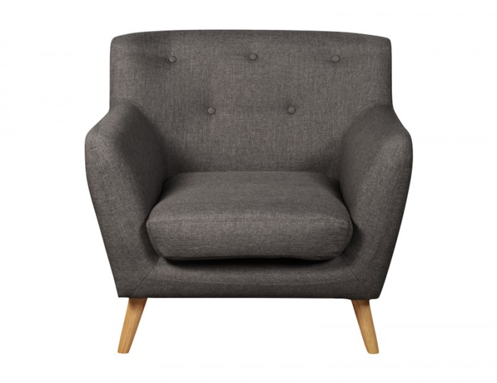 Eton Grey Upholstered 1 Seater Sofa Chair