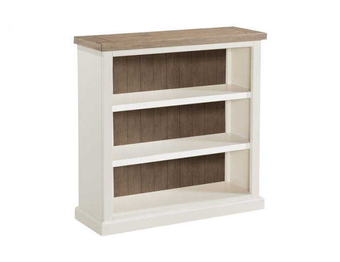 Santorini Solid Pine Hand Painted Low Bookcase
