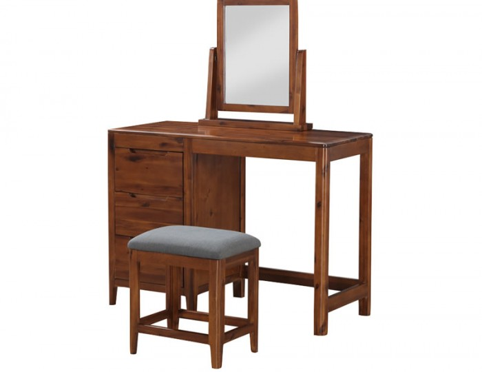 Dunmore Acacia Single Dressing Table & Stool