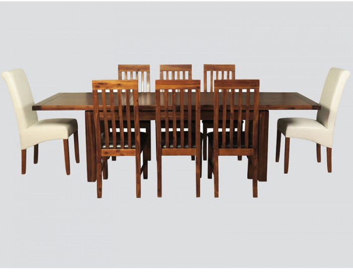 Rowland Acacia Large Extending Dining Set