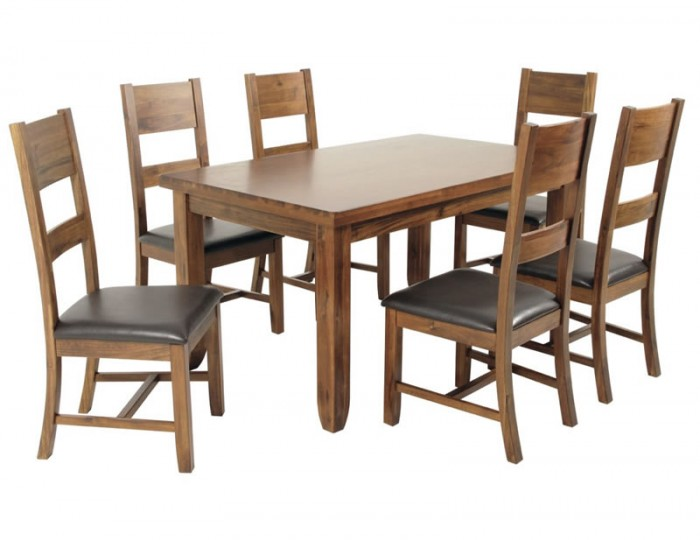 Rowland Acacia Medium Extending Dining Table ONLY