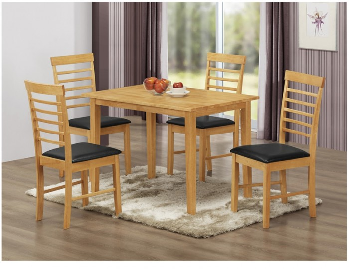 Hartford City Oak Solid Wood 120cm Dining Set