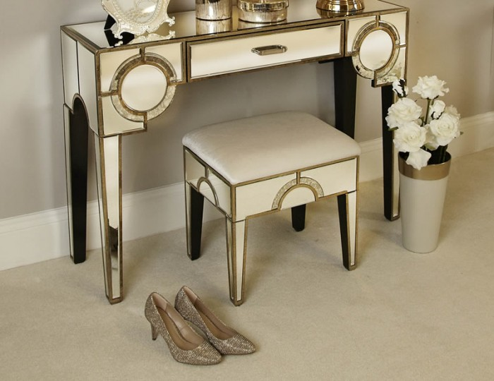 Gatsby Antique-Frosted Mirrored Dressing Table