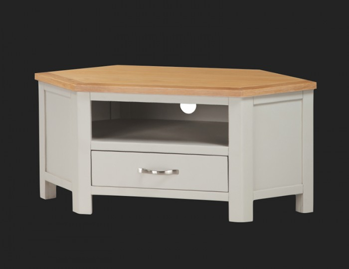 Hartford Painted Solid Oak Corner TV Unit
