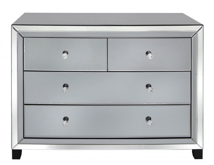 Estelle 4 Drawer Smoked Mirror Chest