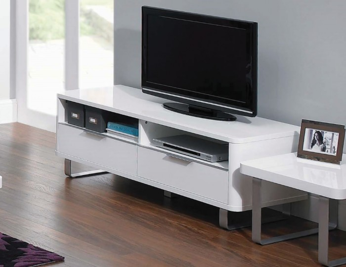 Mya White High Gloss TV Unit