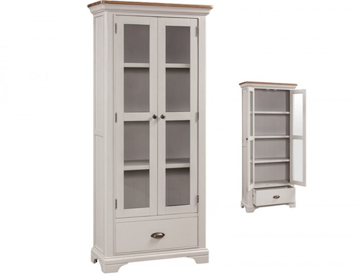 Lola Painted Oak 2 Door Display Unit