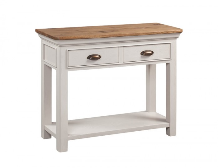 Lola 2 Drawer Painted Oak Console Table
