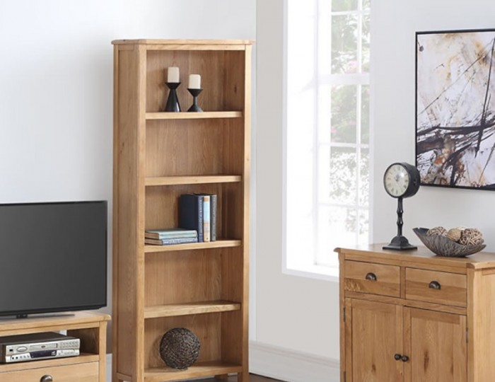 Kako Tall Oak Bookcase
