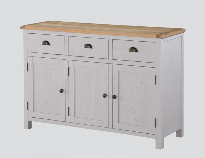 Kako Painted Oak 3 Door 3 Drawer Sideboard