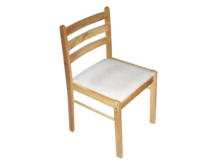 Starter Natural Wooden Padded Dining Chair
