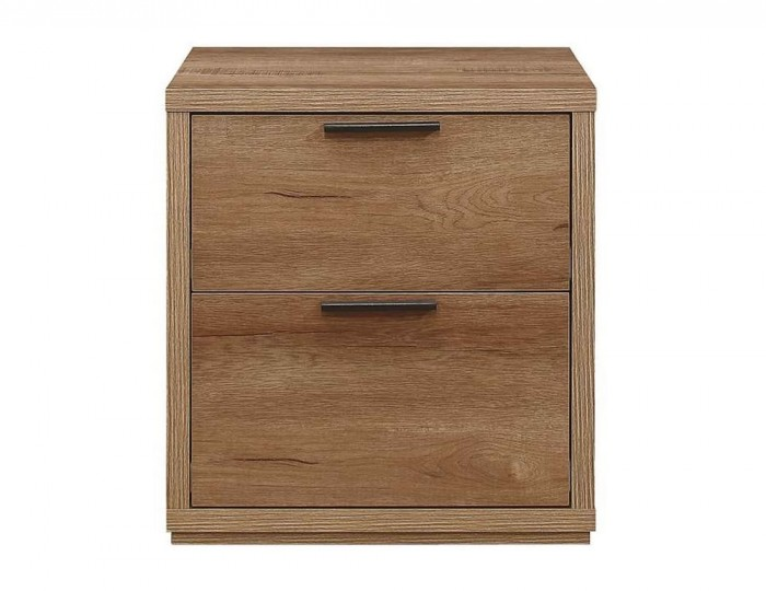 Stockwell 2 Drawer Oak Effect Bedside Cabinet