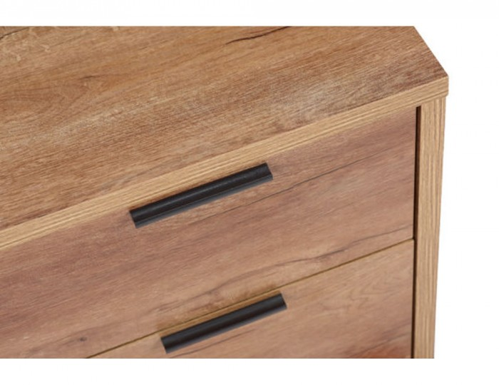 Stockwell 8 Drawer Oak Effect Merchant Chest