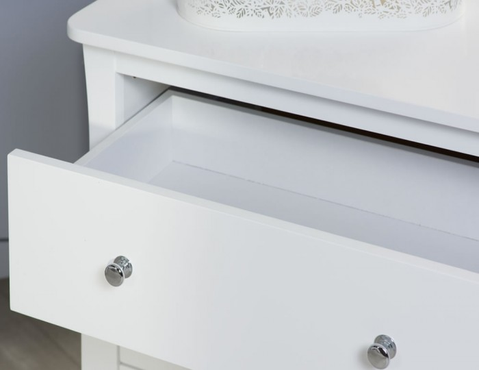 Parise White 6 Drawer Wide Chest
