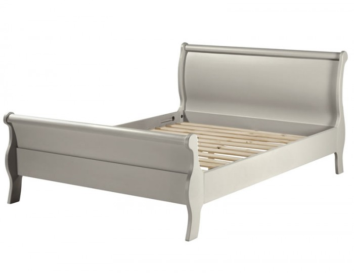 Salvador Grey Painted Sleigh Bed Frame