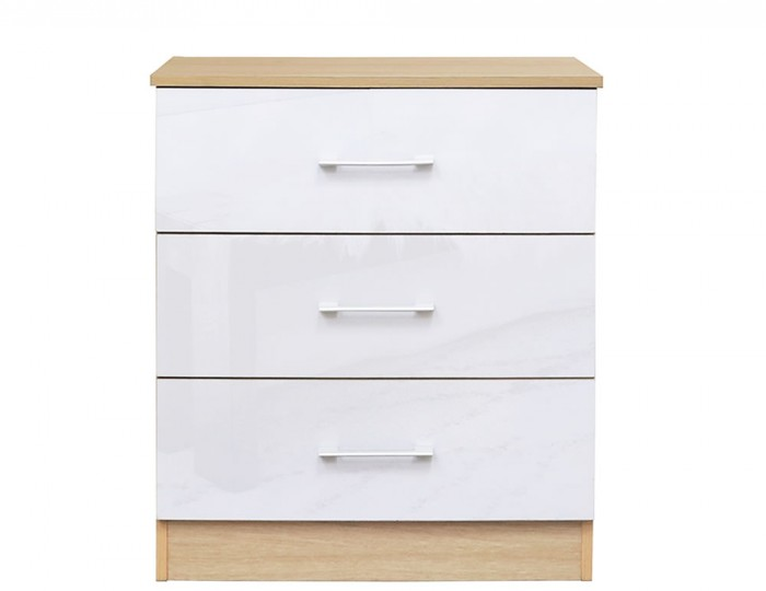 Casey White High Gloss 3 Drawer Chest *Special Offer*