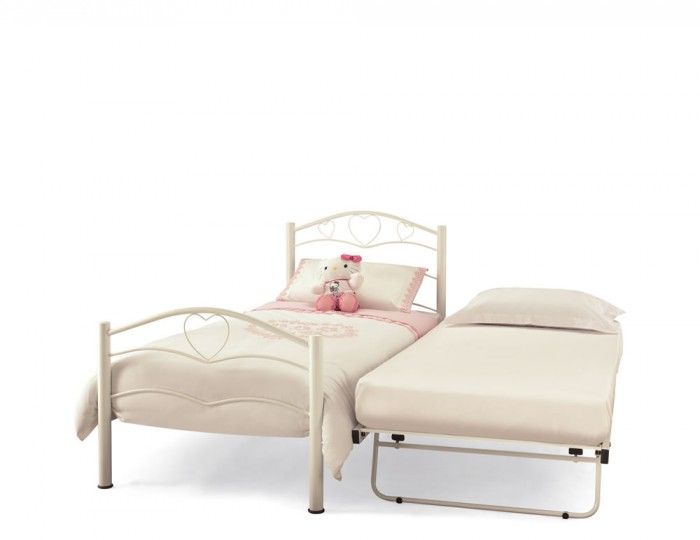 Yasmin White Metal Guest Bed