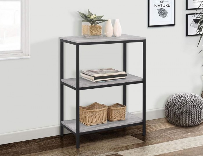 New York Grey 3 Tier Bookcase