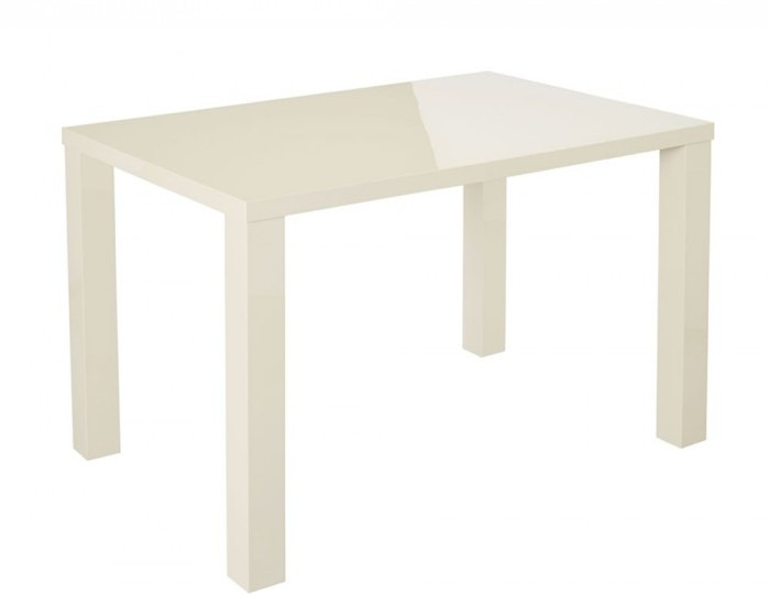 Puro Cream High Gloss Medium Dining Table *Special Offer*