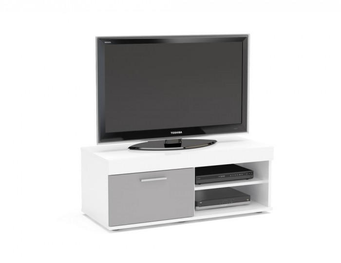 Nightingale White and Grey Small TV Unit