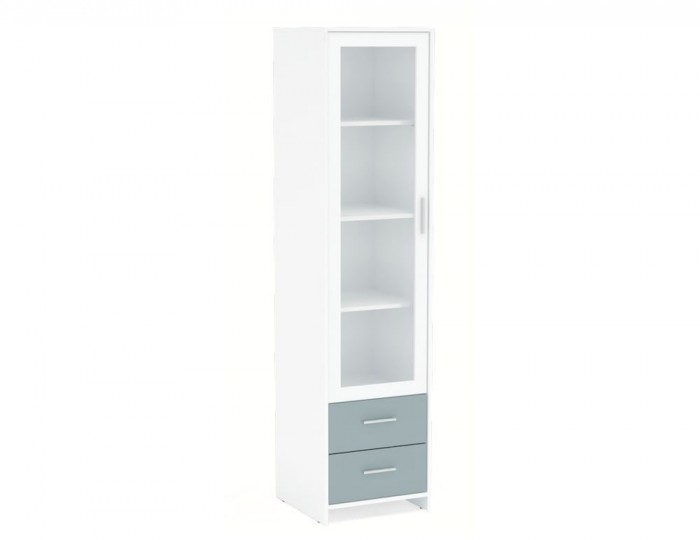 Nightingale White and Grey Glass Door Cabinet