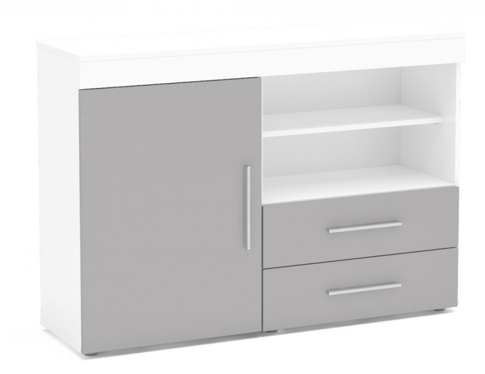Nightingale White and Grey Small Sideboard