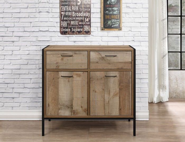 Ashvale Urban Wooden 2 Door 2 Drawer Sideboard