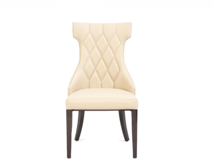 Jayena Cream Faux Leather Upholstered Dining Chair