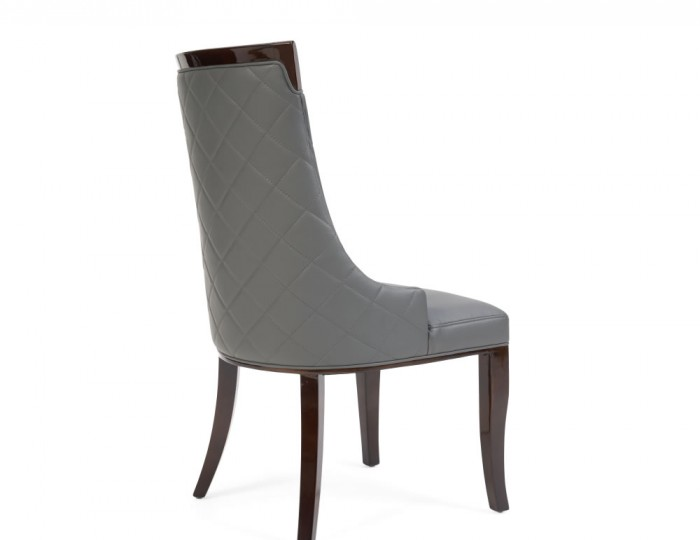 Cazorla Grey Faux Leather Upholstered Dining Chair