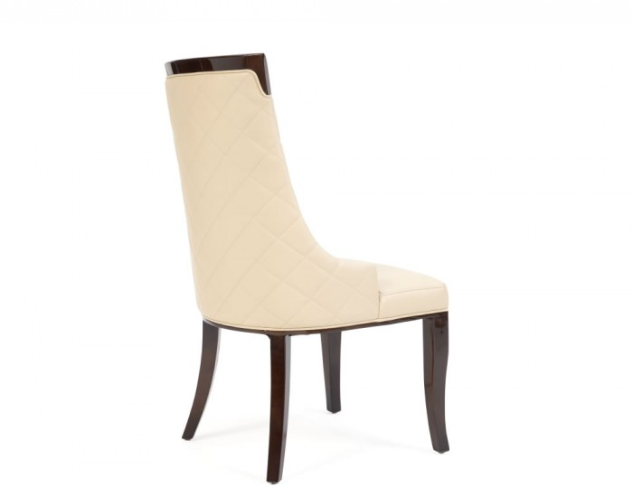 Cazorla Cream Faux Leather Upholstered Dining Chair