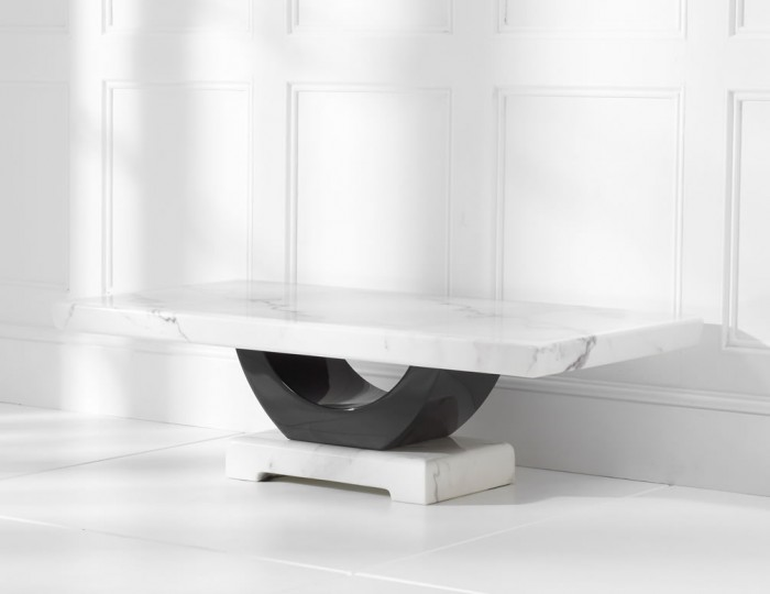 Marcio White and Black Marble Coffee Table