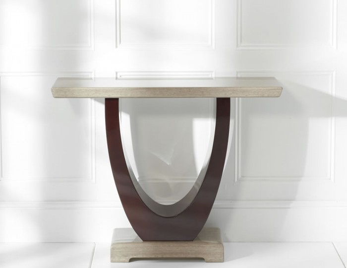 Roberto Brown Marble Console Table