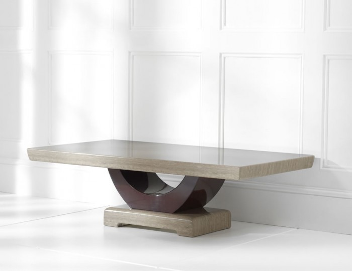 Roberto Brown Marble Coffee Table