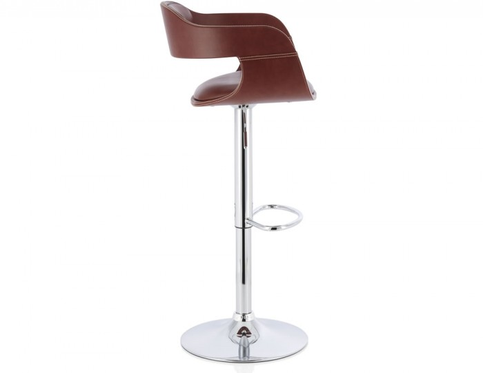 Cyprus Brown Faux Leather Bar Stool