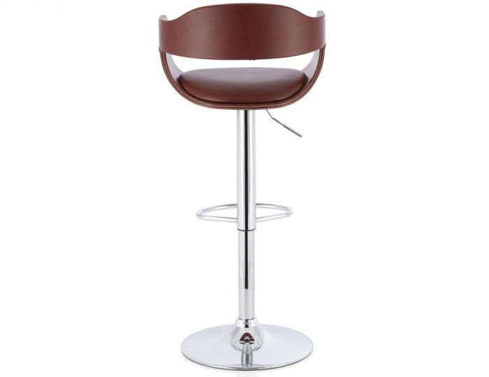Cyprus Brown Faux Leather Bar Stool Frances Hunt