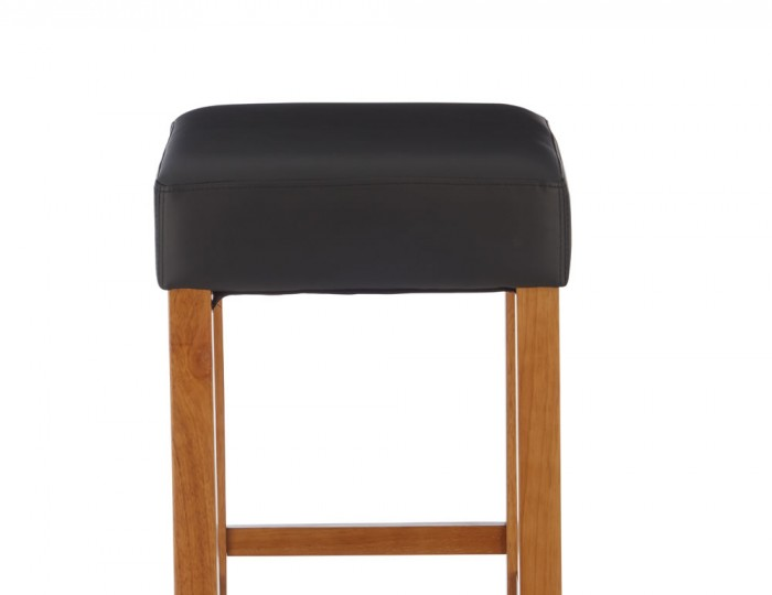 Liam Black Faux Leather Bar Stools