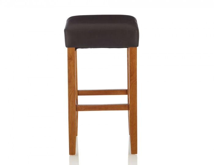 Liam Brown Faux Leather Bar Stools