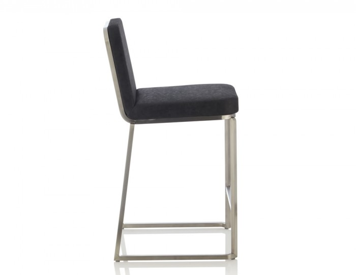 Dorothy Black Faux Leather Bar Chairs
