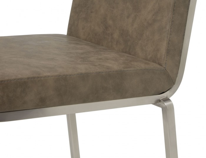 Dorothy Taupe Faux Leather Bar Chairs