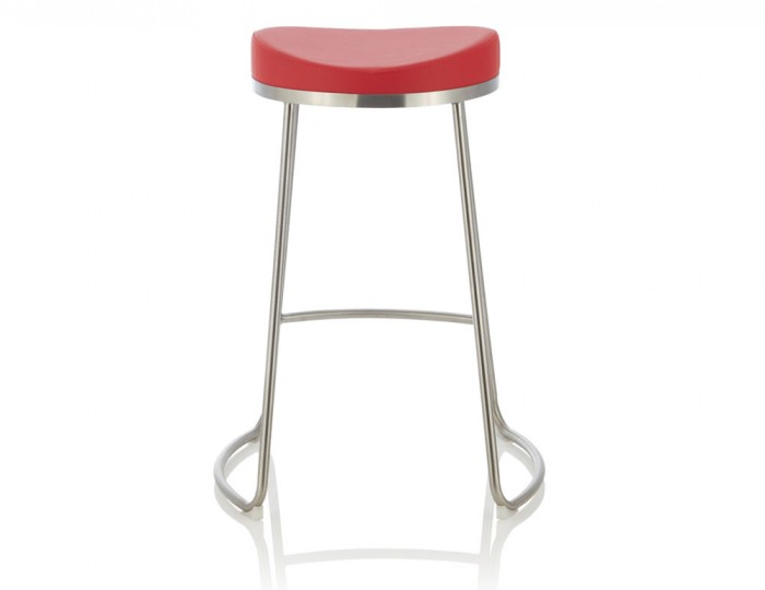 Marcus Red Faux Leather Bar Stools