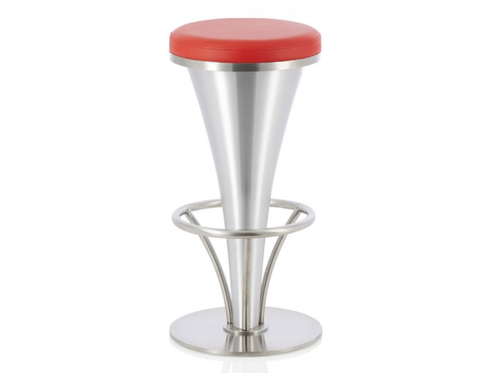 Judy Red Faux Leather Bar Stool