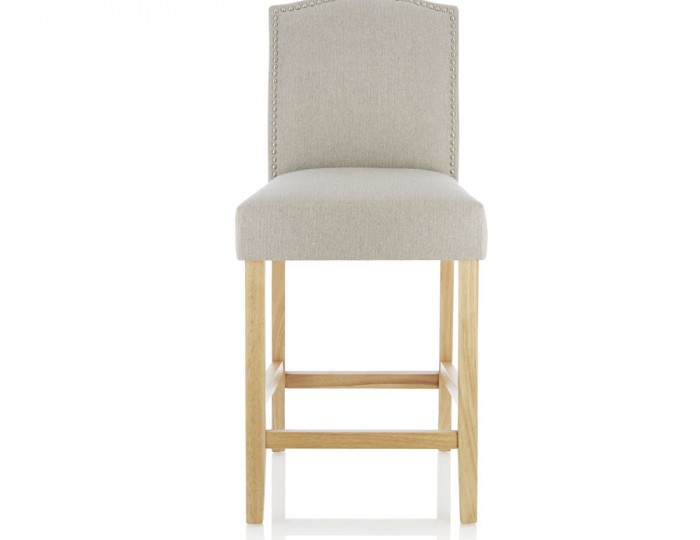 Larix Mink Fabric Bar Chairs