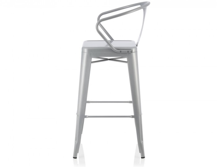 Tyne Silver Metal Bar Chairs
