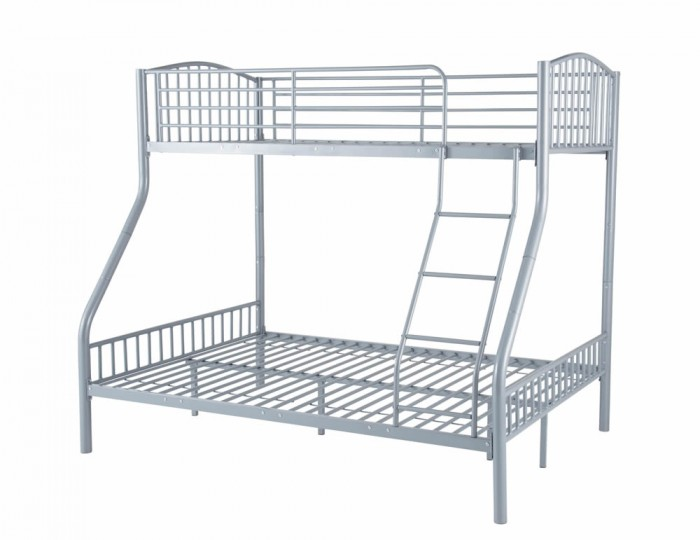 Oslo Three-Sleeper Silver Bunk Bed