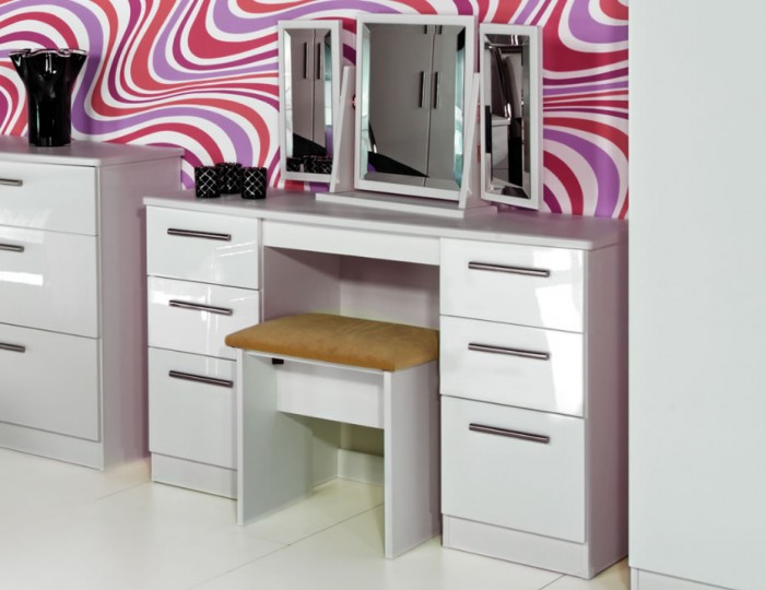 Queen White High Gloss Dressing Tables