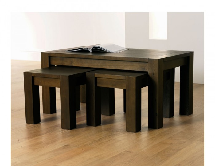 Lyon walnut nest of coffee tables Lyon coffee table